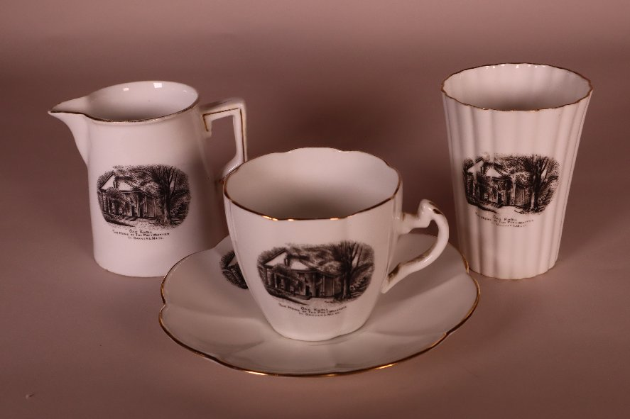 Pitcher, Cup & Saucer, and Tumbler