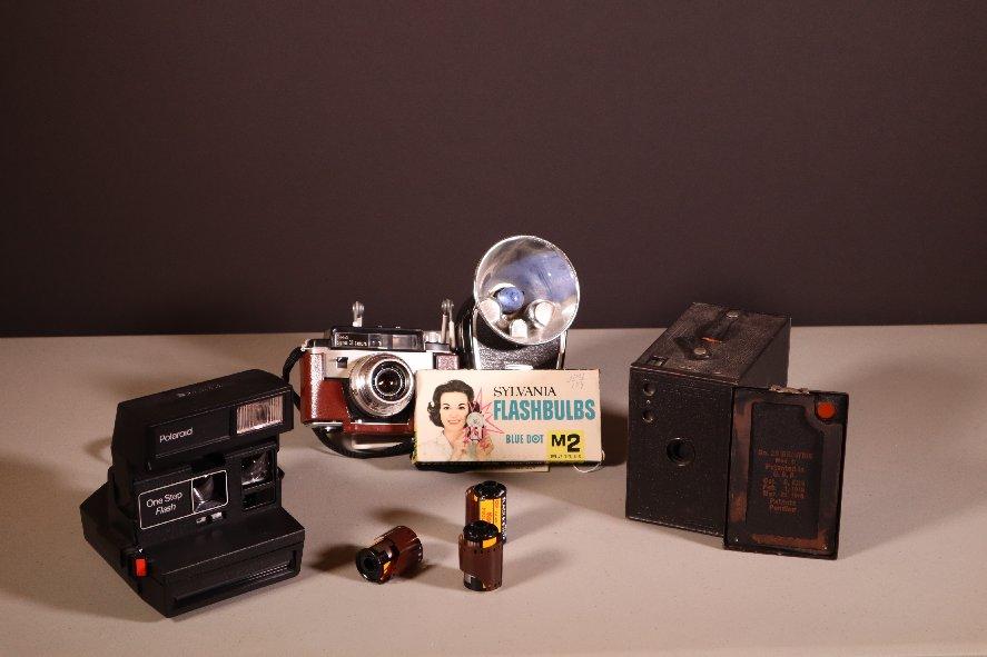 Cameras with Sylvania Flashbulbs