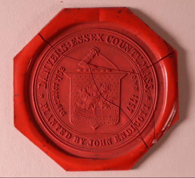 Red wax town seal